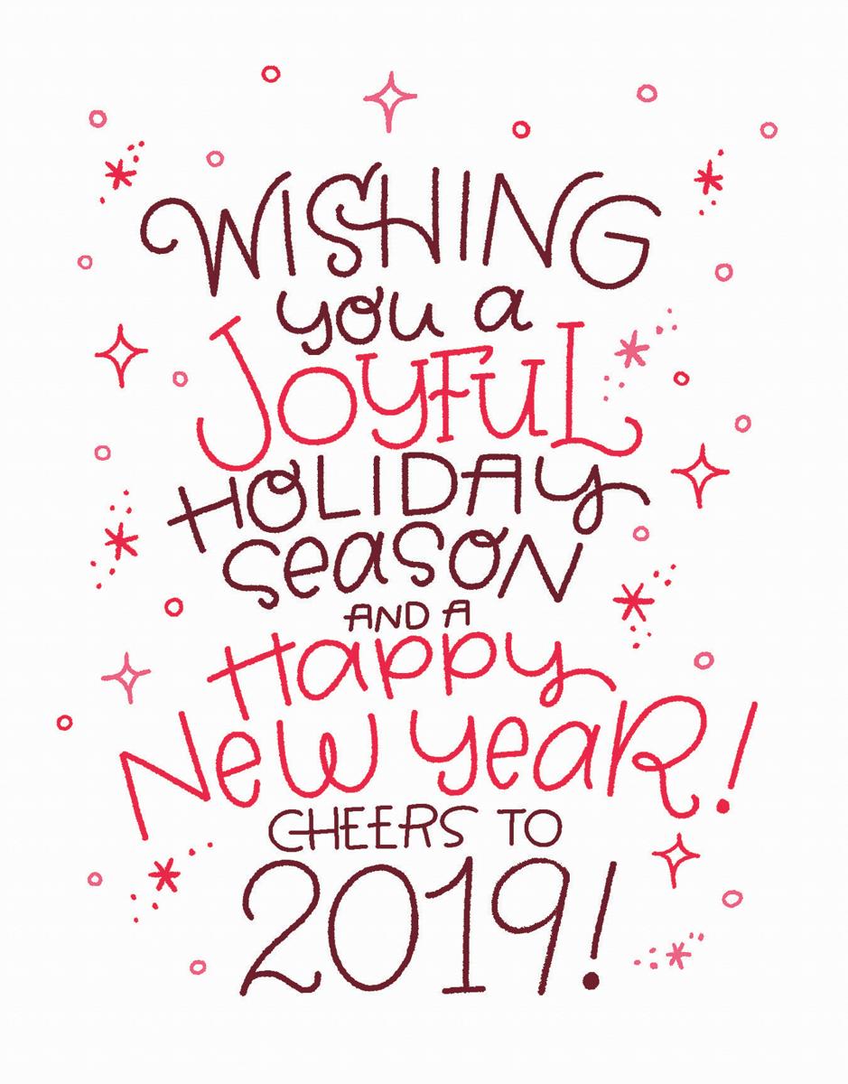 joyful holiday season greeting