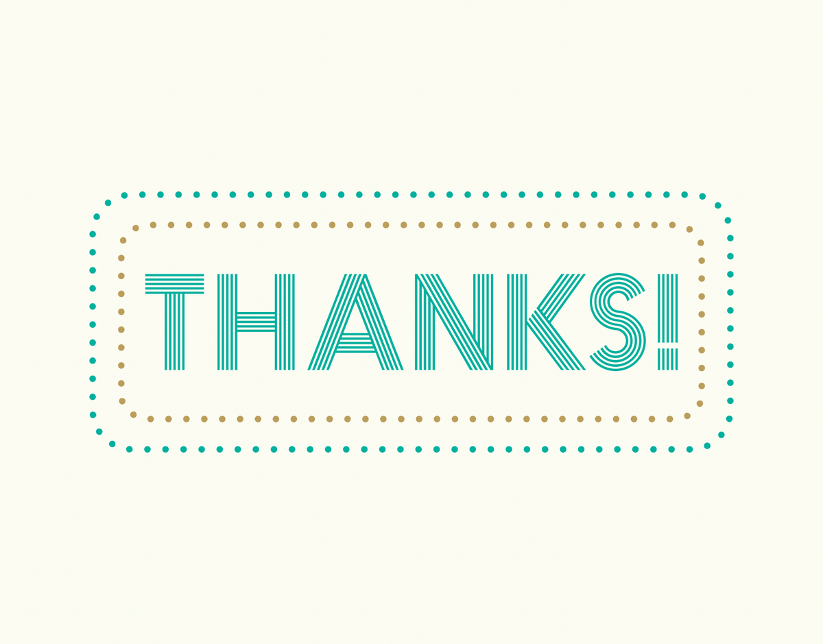 Marquee Thank You Card