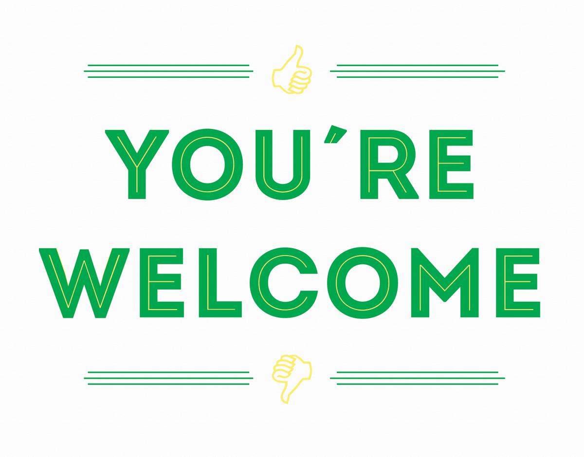 Funny You're Welcome Card