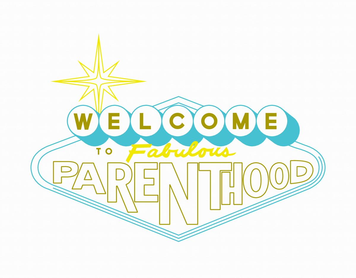 Las Vegas Parenthood Congrats Card