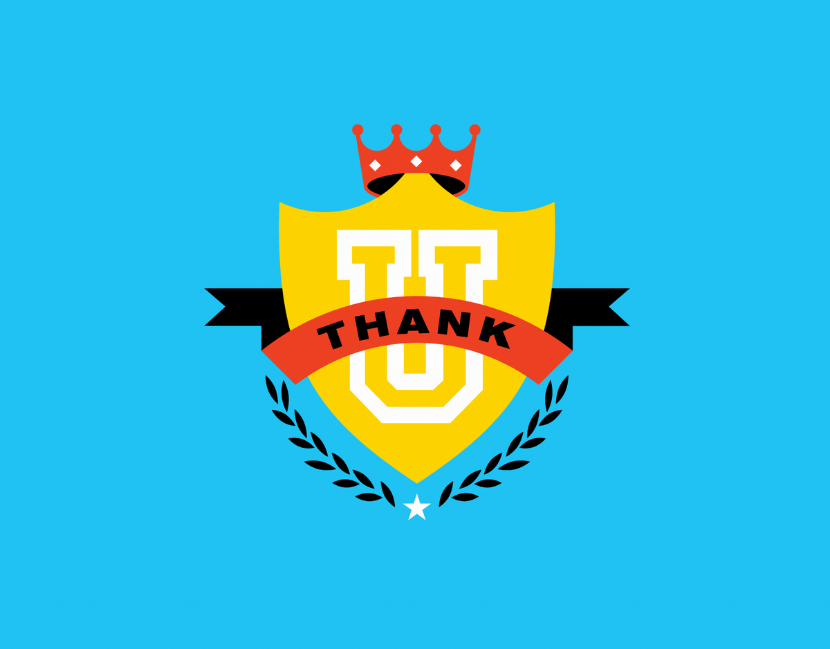 Graphic Crest Thank You Card