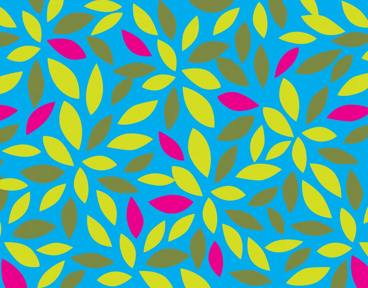 Graphic Leaf Pattern Stationery
