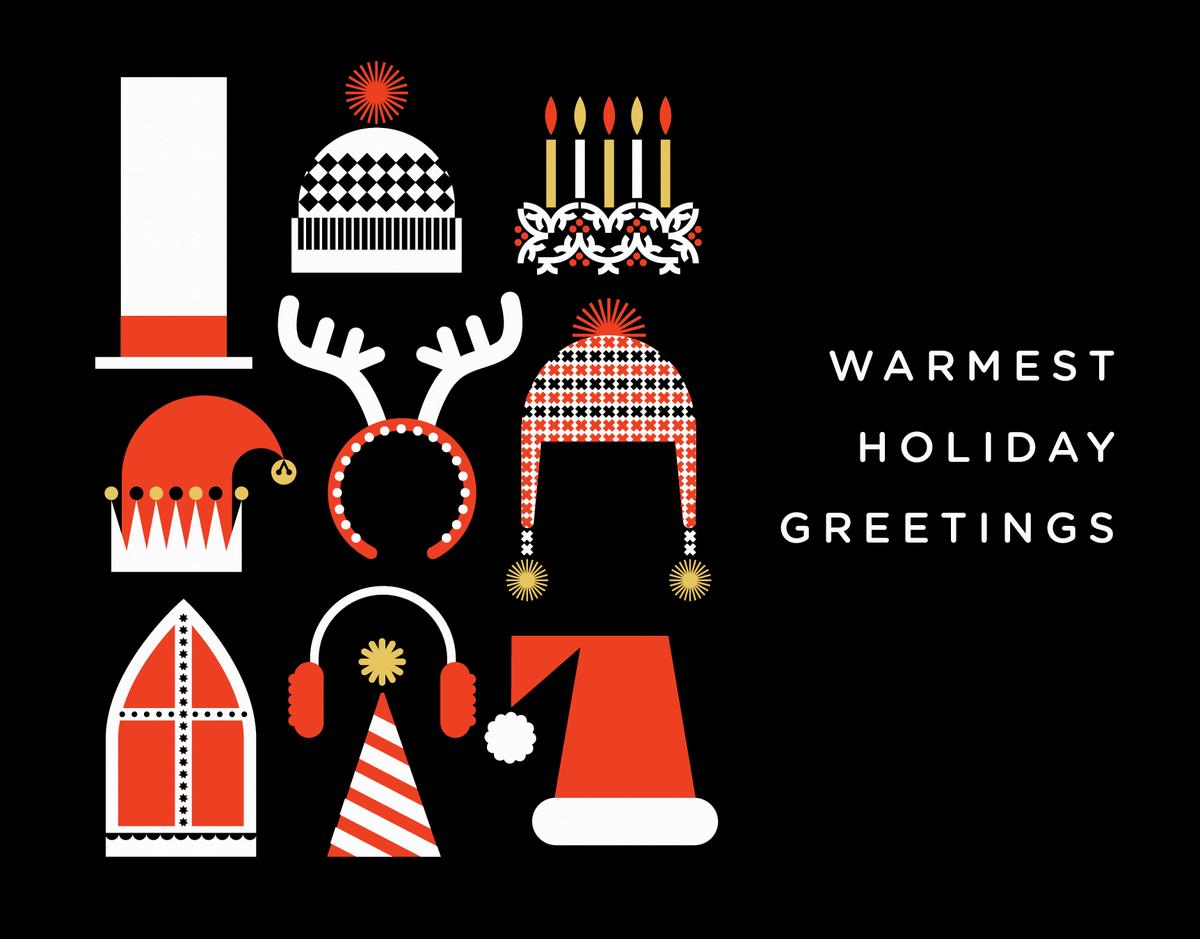 Warm Noggins Holiday Card