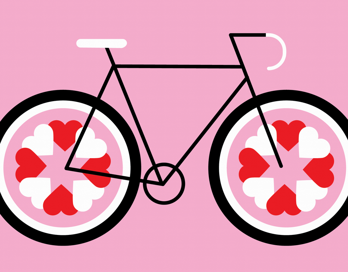 Love Cycle Valentine Card