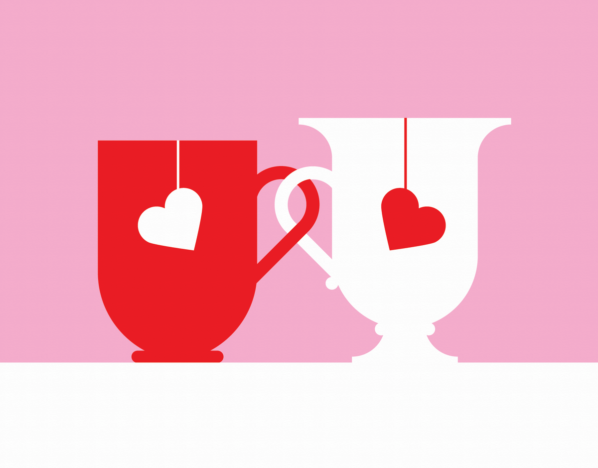 Love Mugs Greeting Card