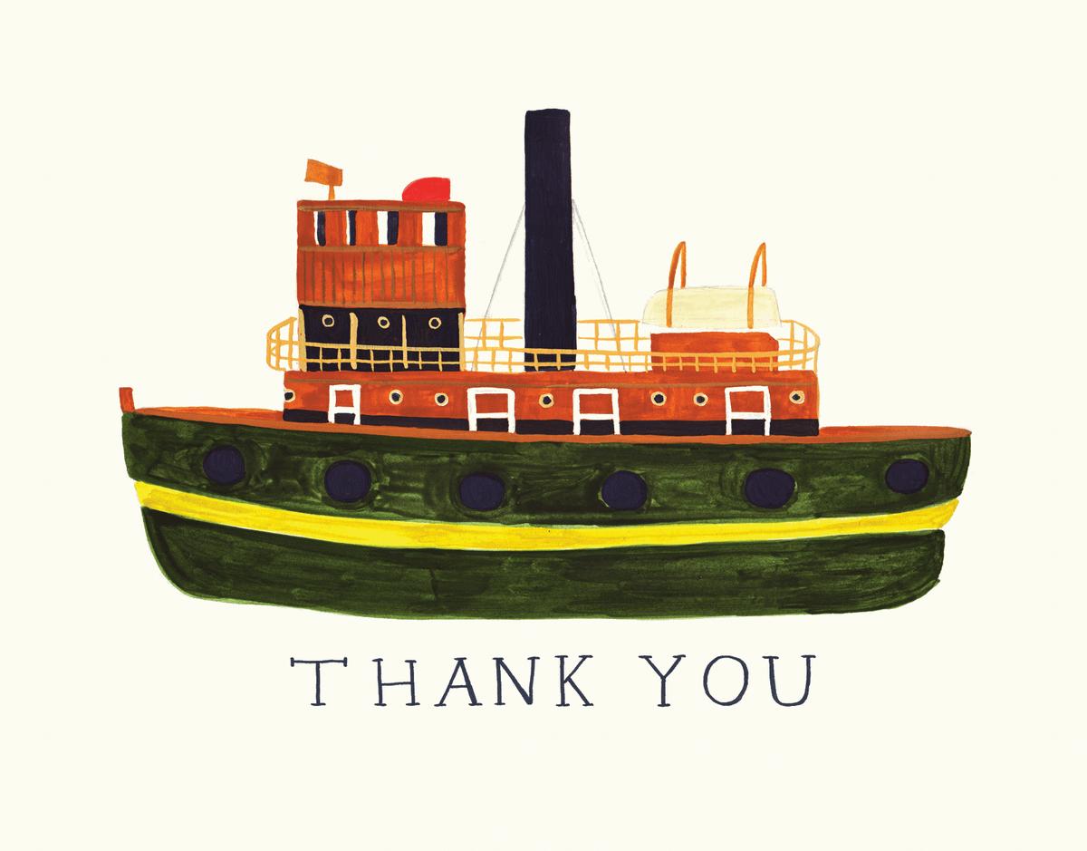 Tugboat Thank You Card