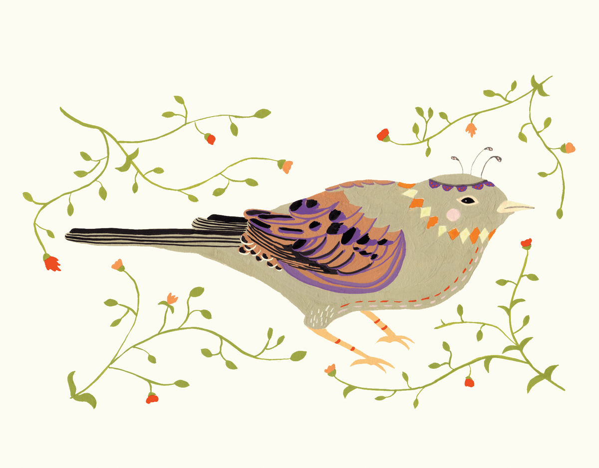 Decorative Bird Greeting Card