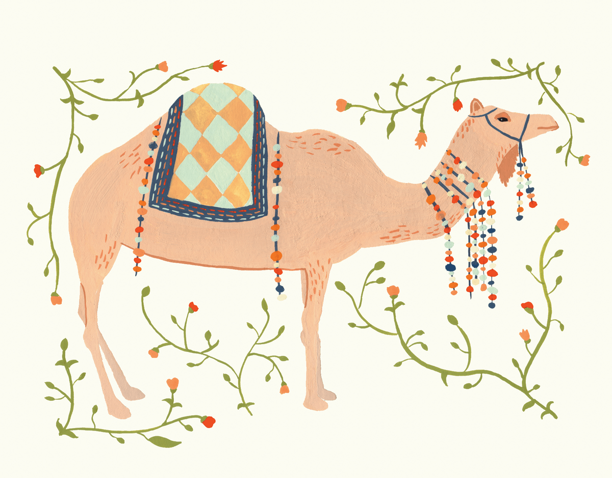 Decorative Camel Card