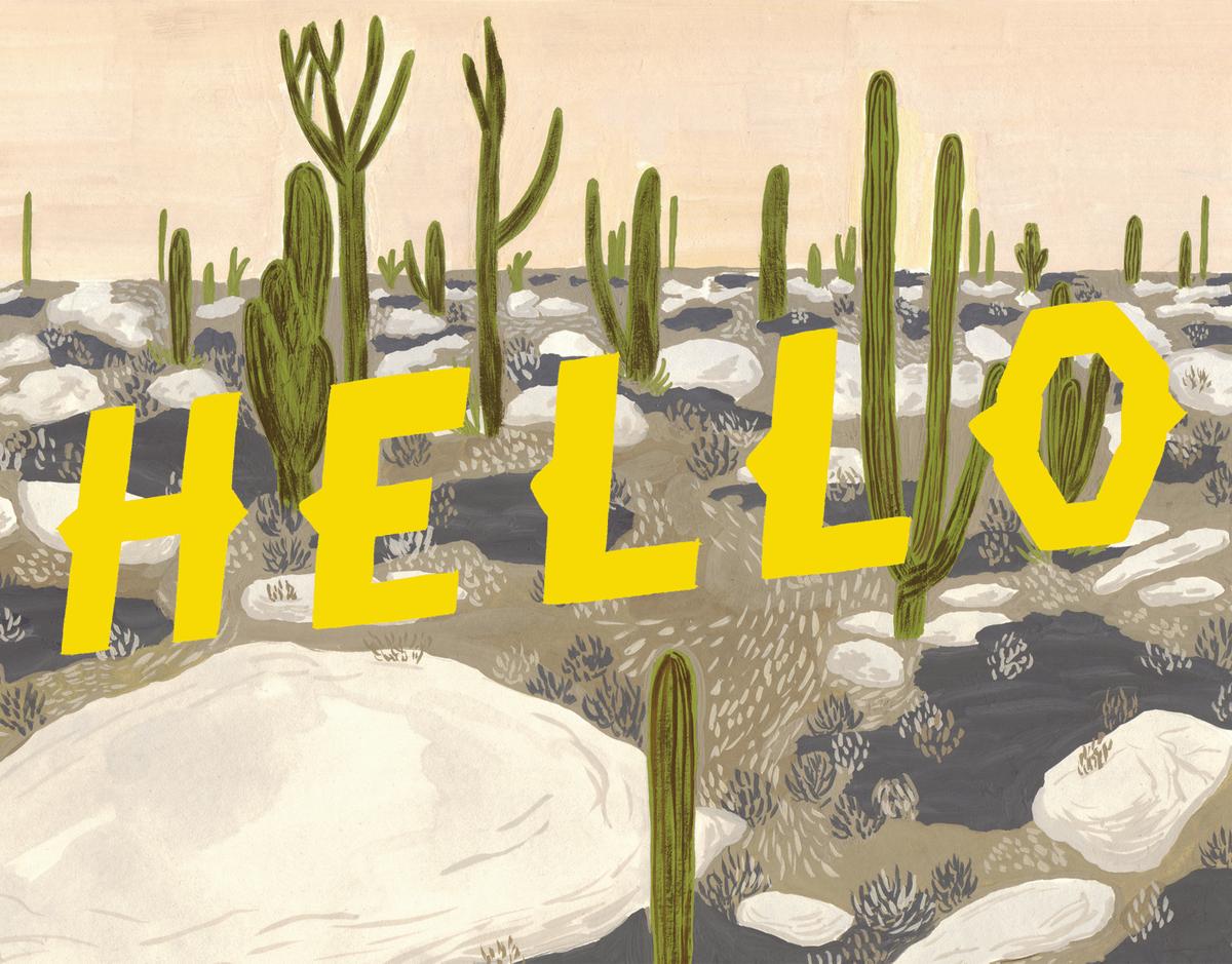 Painted Desert Hello Card