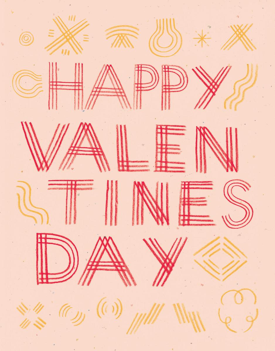 Valentine's Day Scribble