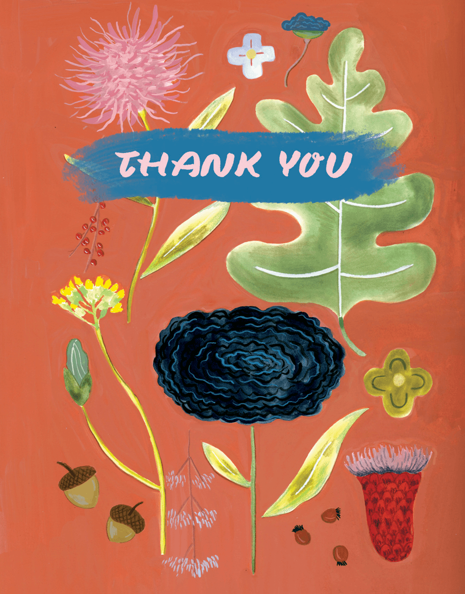 Floral Specimen Thank You