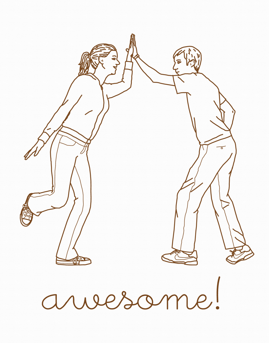 High Five Awesome Congrats Card