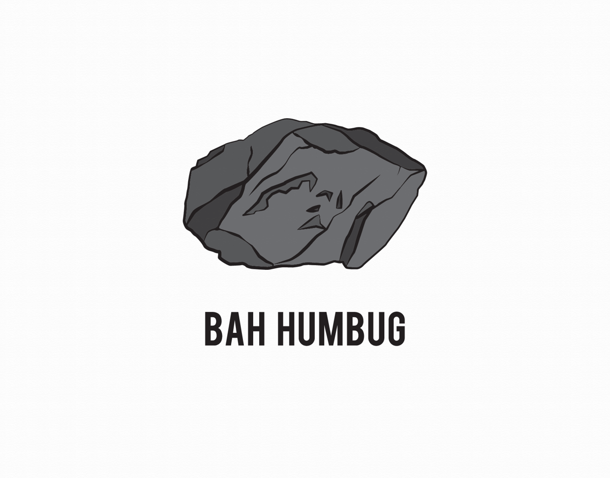 Coal Bah Humbug Holiday Card