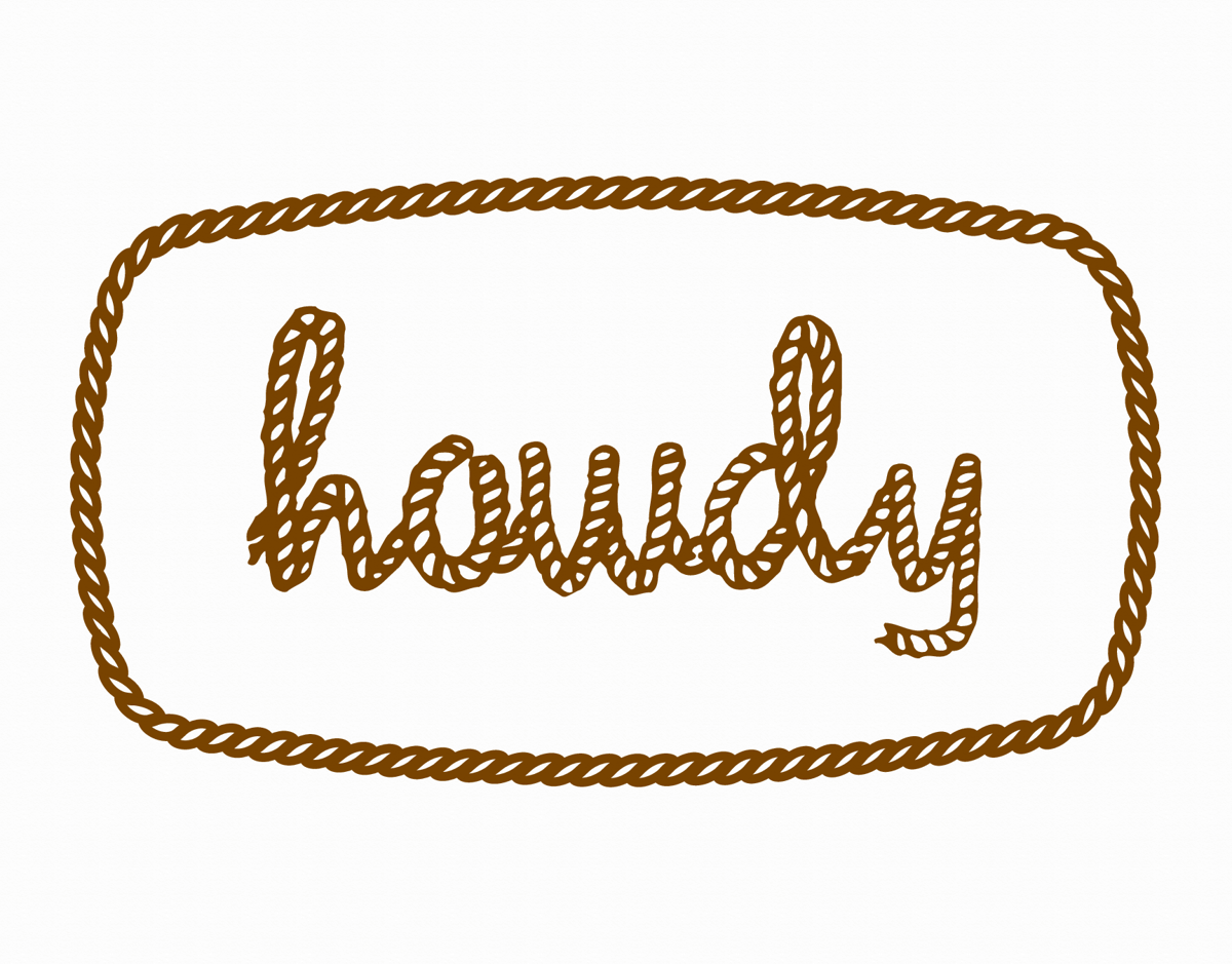 Rope Howdy Hello Card
