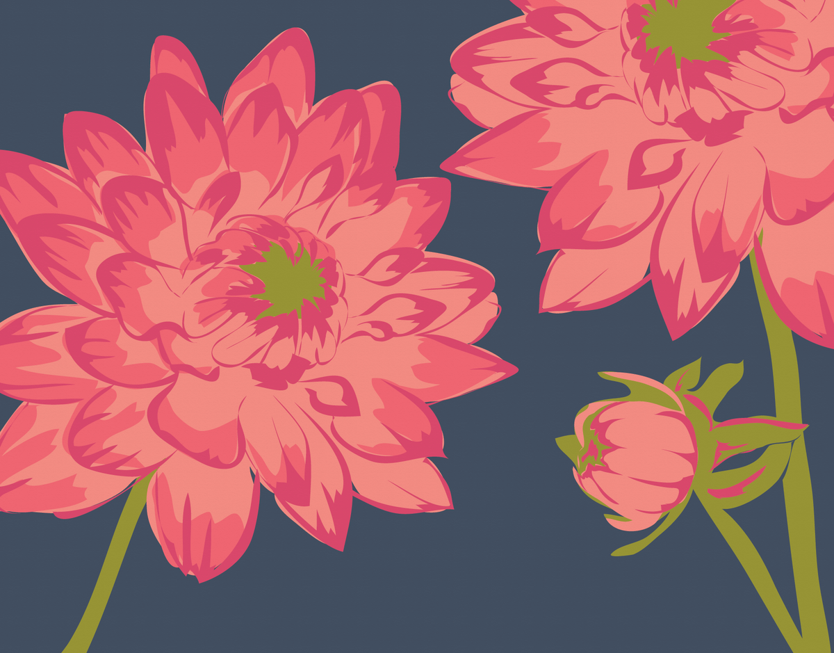 Dahlia Patch Card