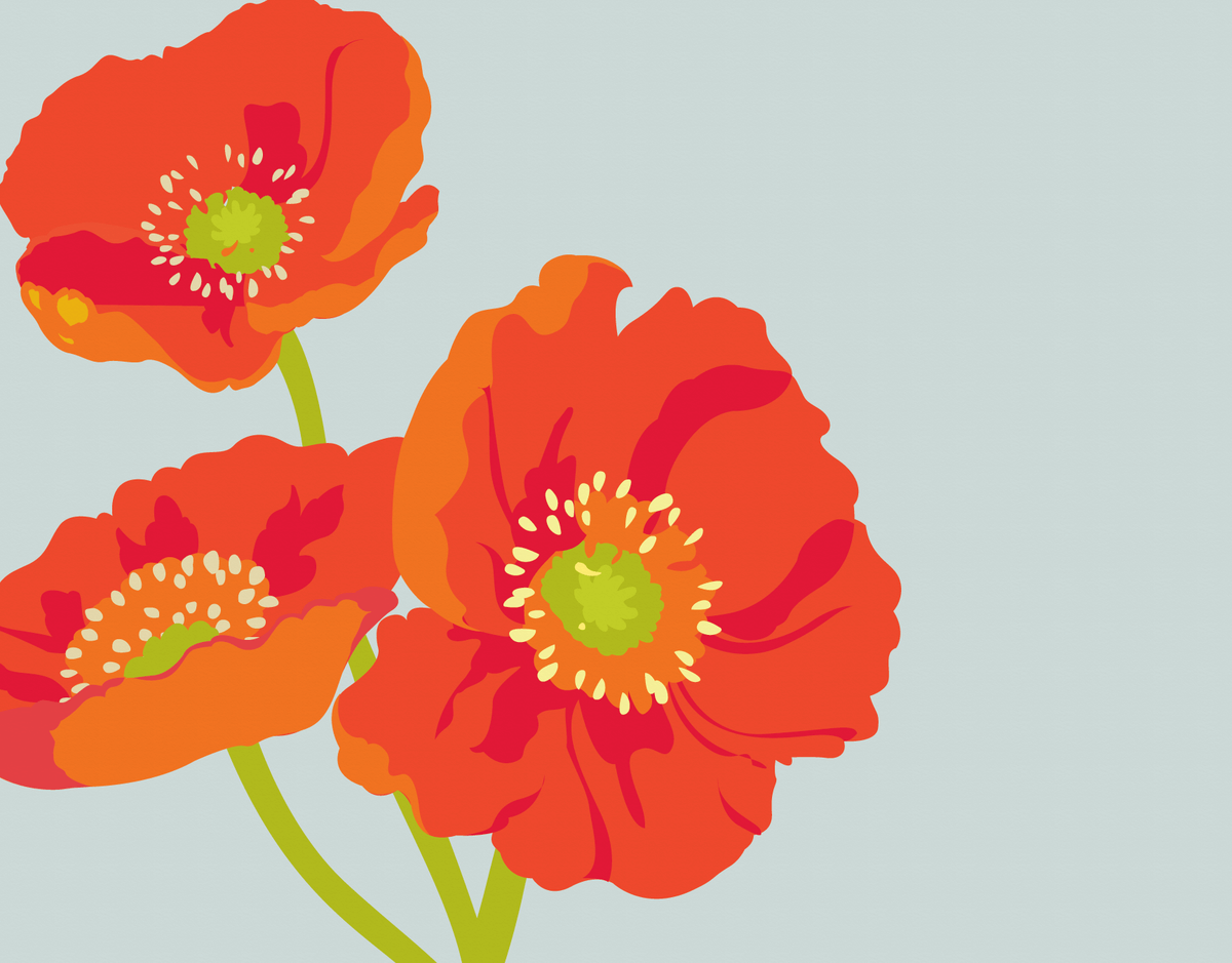 Elegant Poppies Stationery