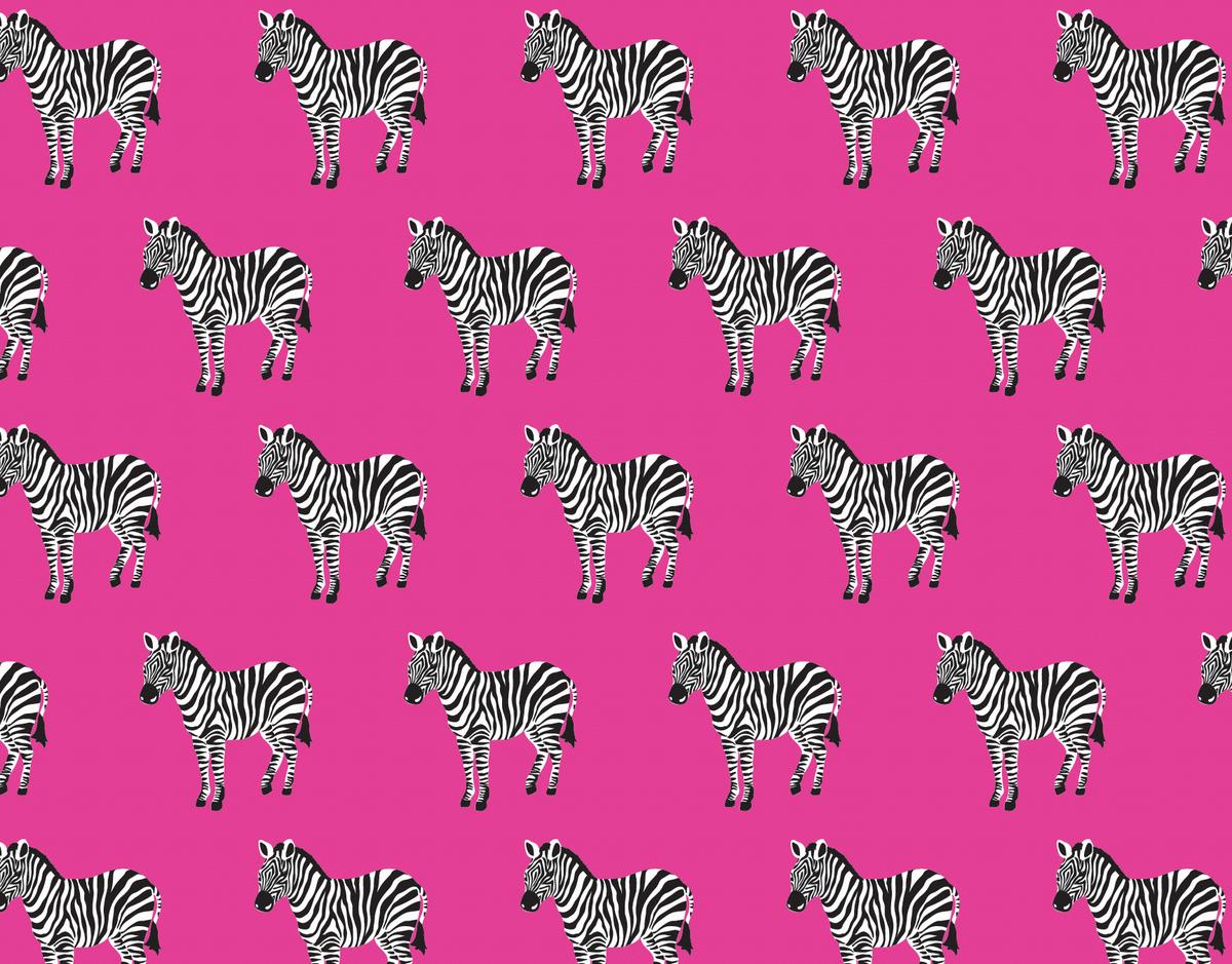 Pink Zebra Stationery