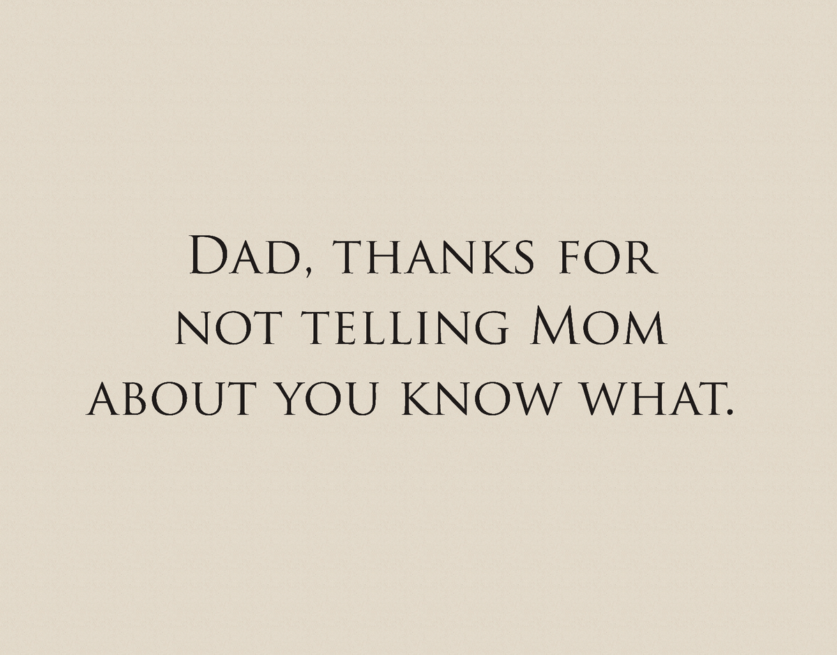 Simple Funny Father's Day Card