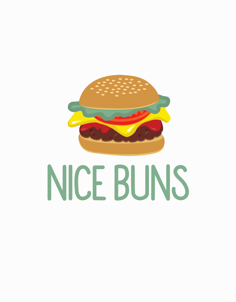 Funny Pun Nice Buns Love Card