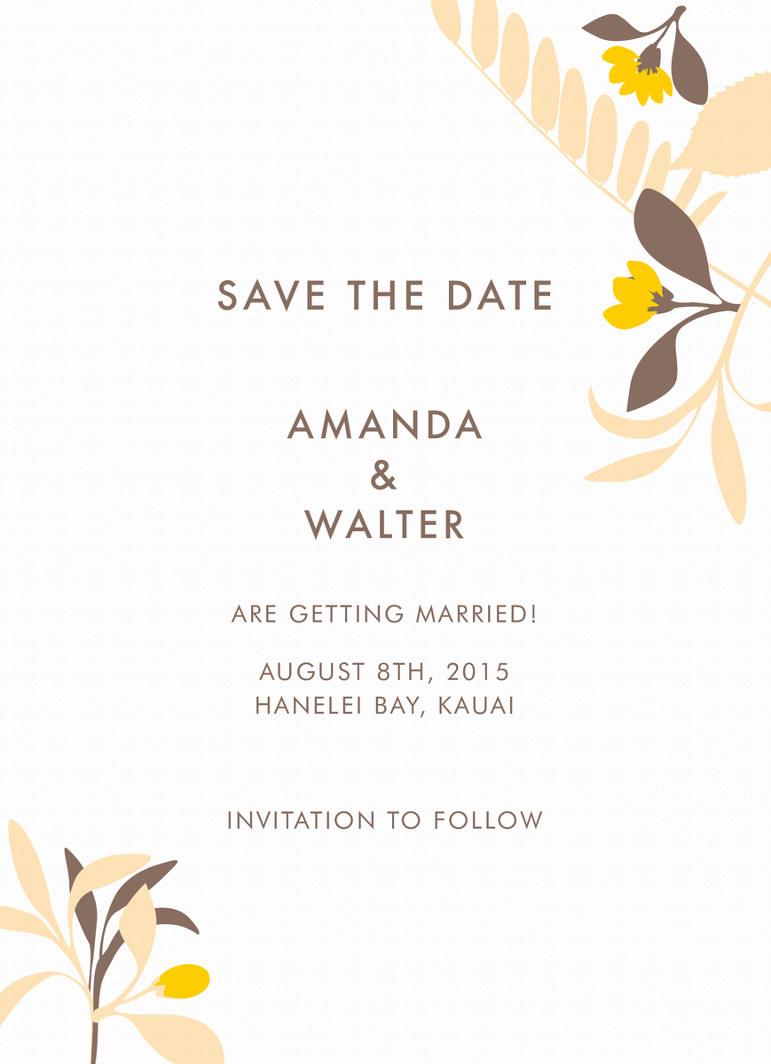 Tropic Save the Date