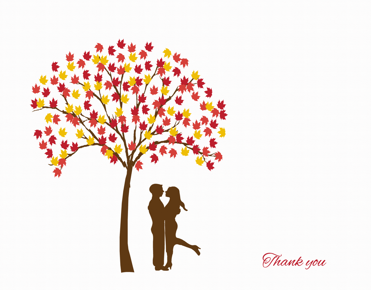 Couple Under Tree Thank You Card