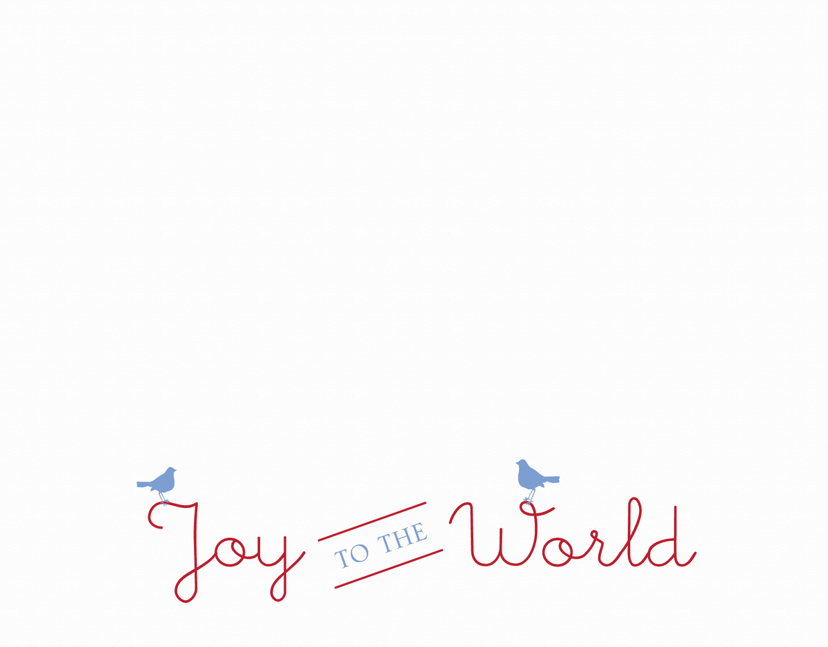 Joy to the World Birds Holiday Card