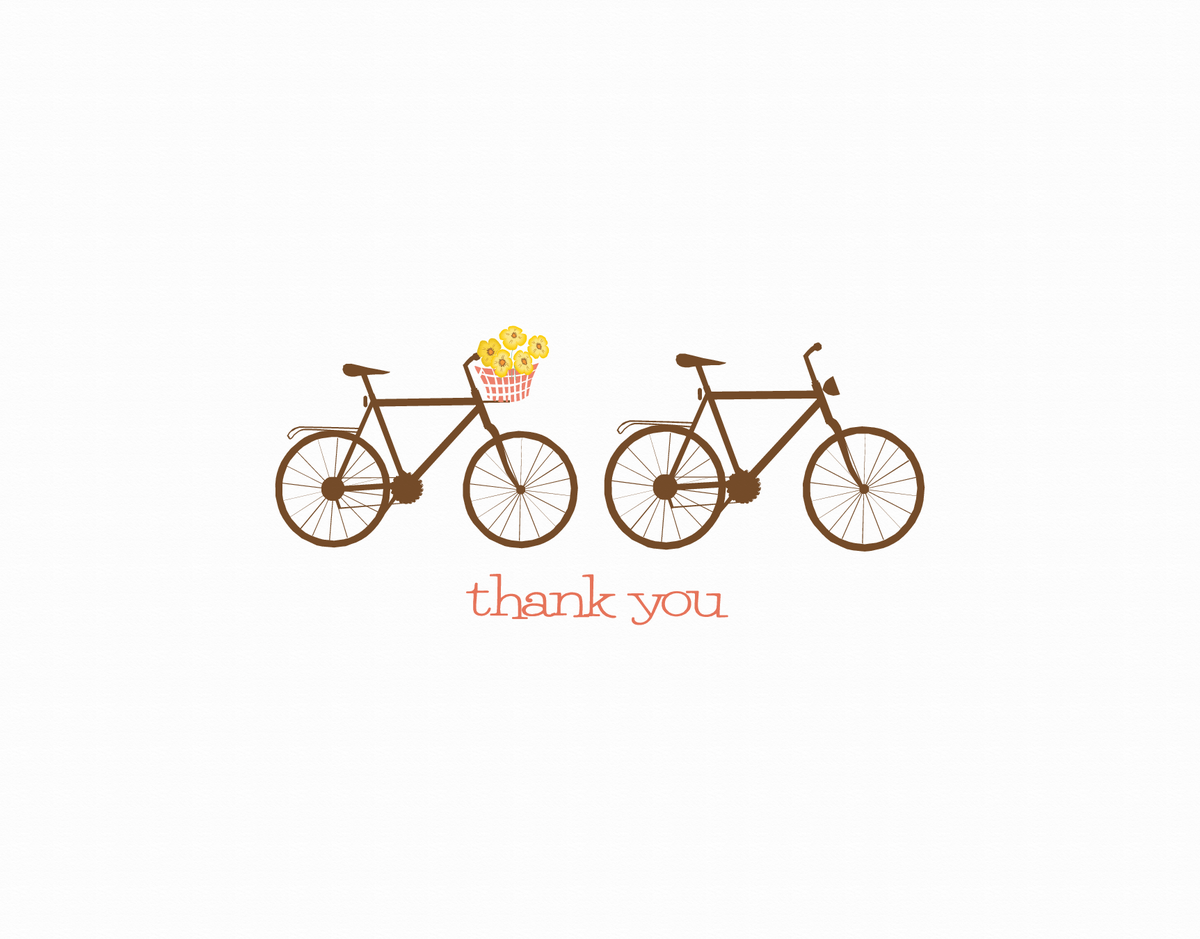 Charming Bicycles Thank You Card