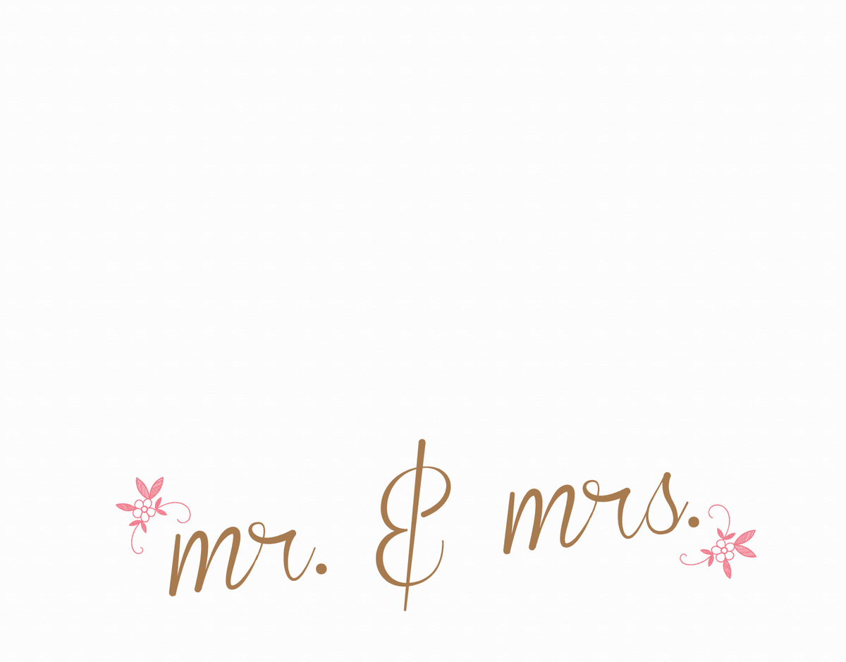 Mr & Mrs Calligraphic Stationery