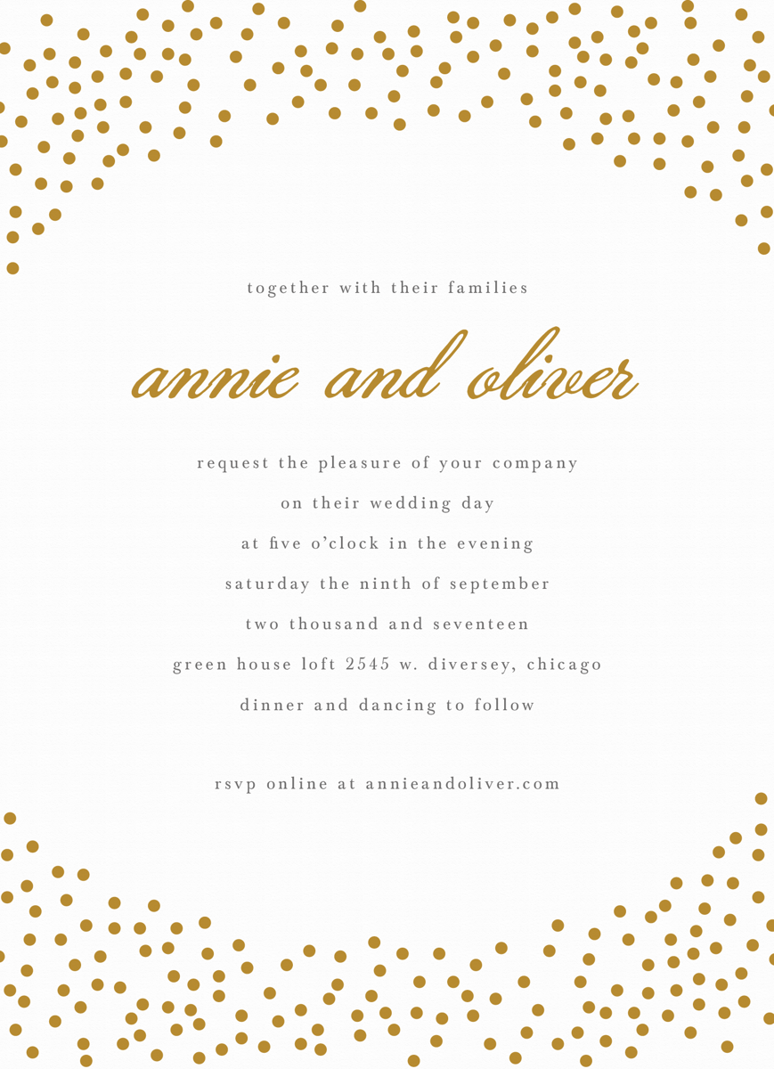 Gold Dots Invite
