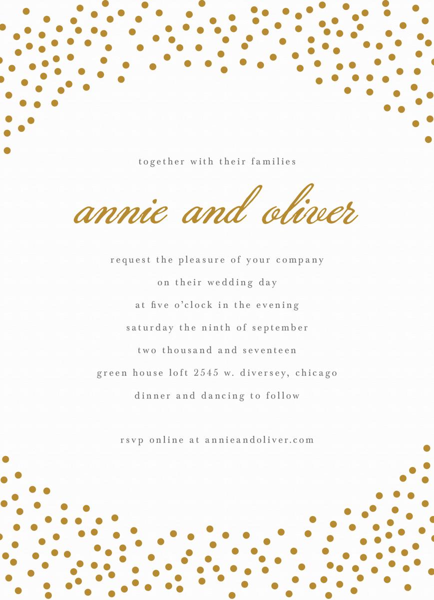 Gold Dots Invite