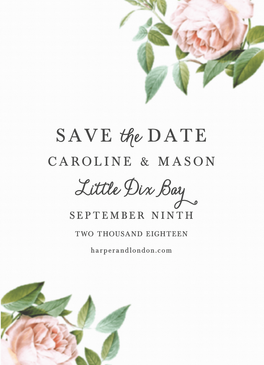Vintage Botanical Save The Date