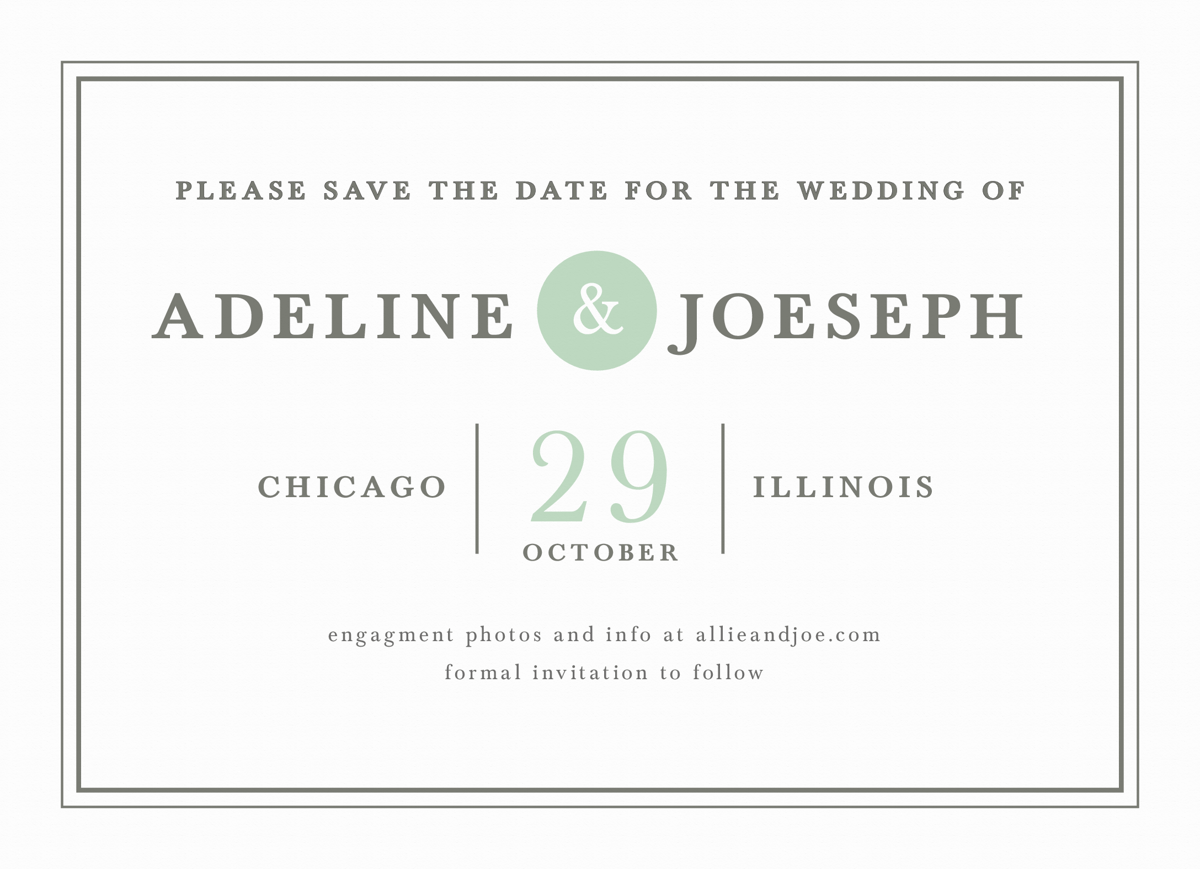 Mint Type Save The Date