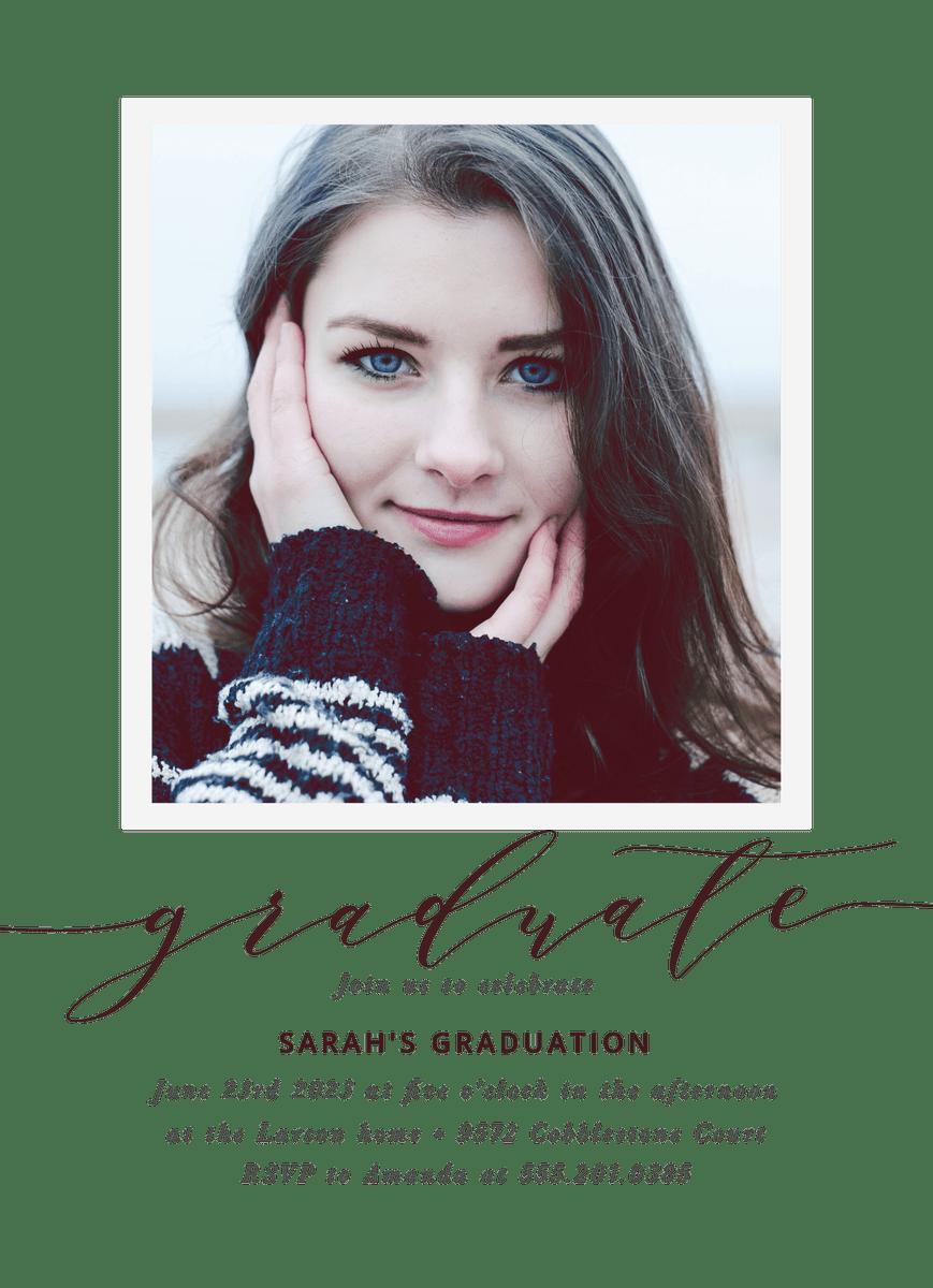 Modern Calligraphy Graduation Invite