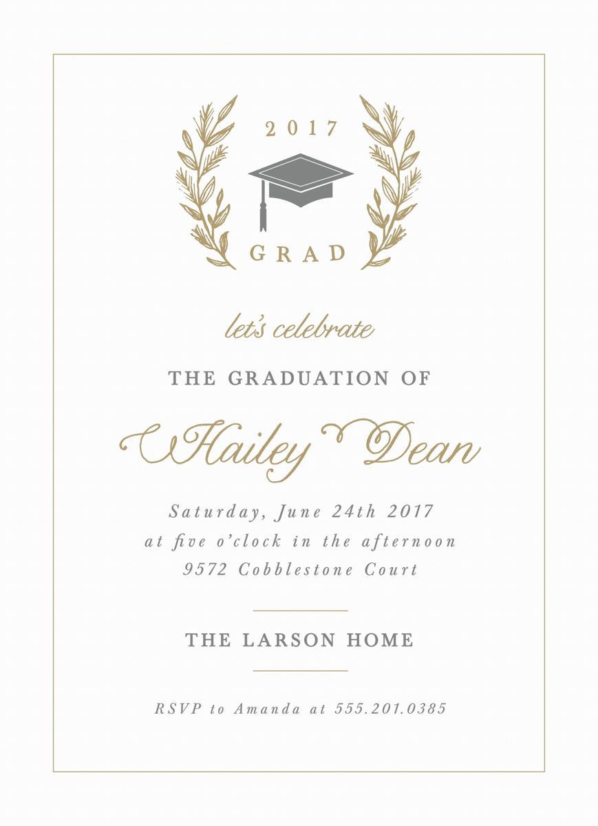 Laurel Graduation Invite