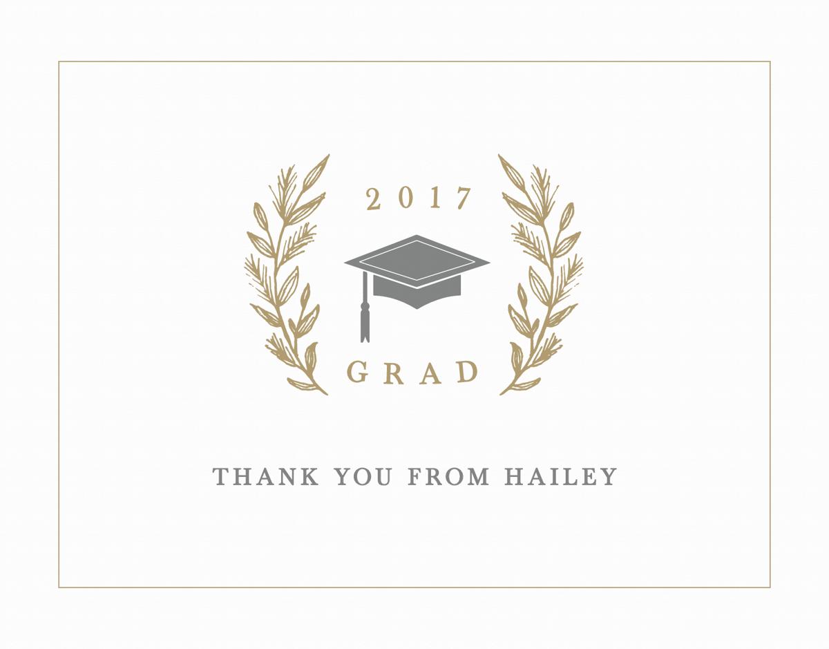 Laurel Graduation Thank You