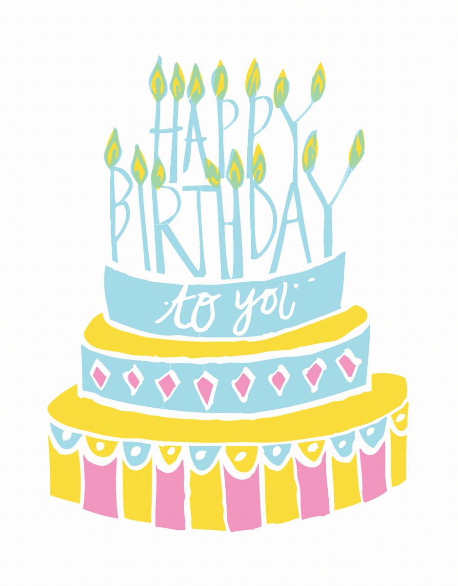 Happy Birthday Cake Card
