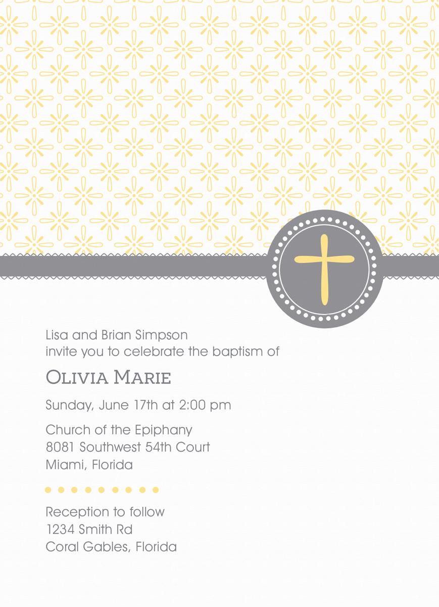 Pattern Baptism Invite