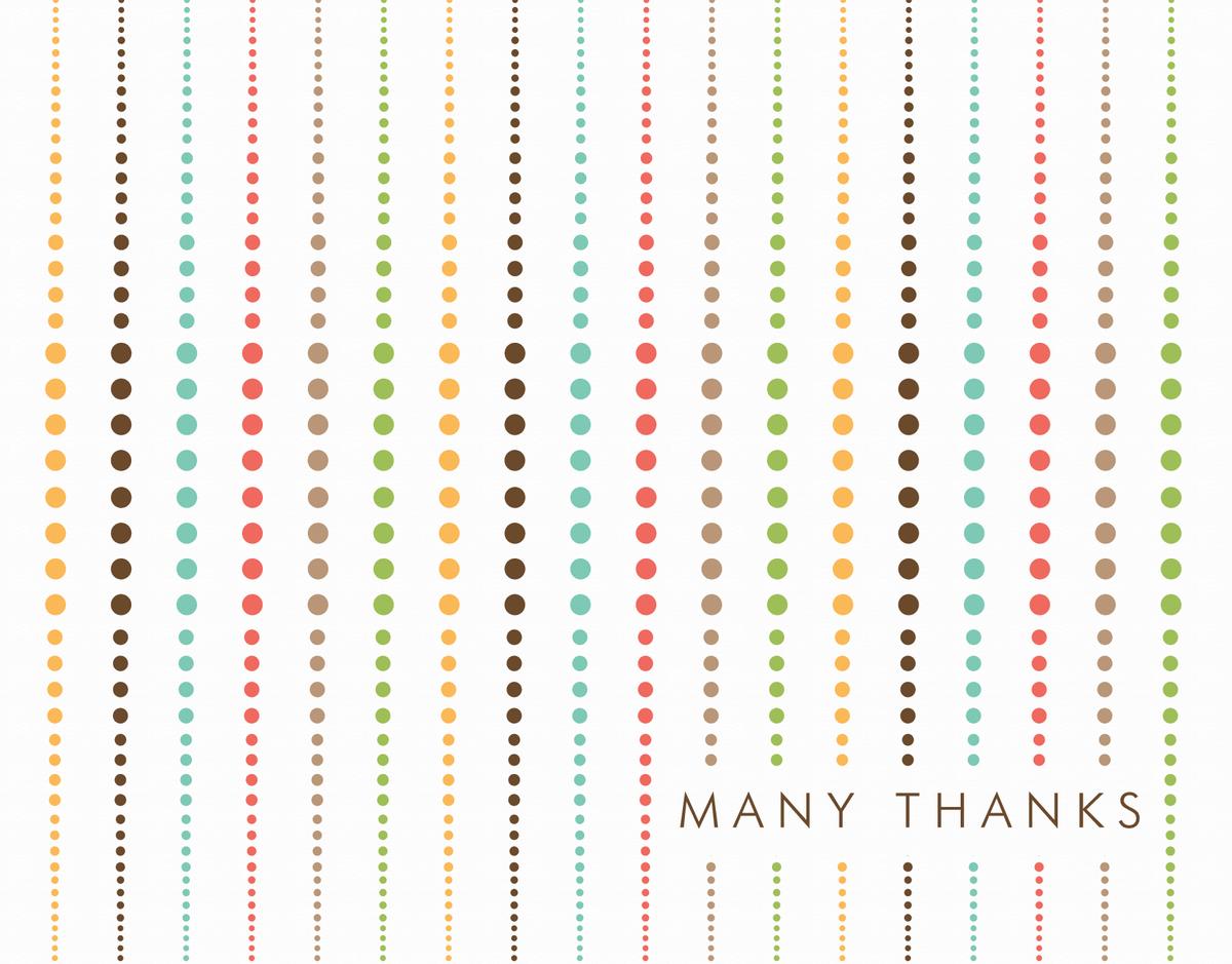 Multicolor Dot Thank You Card