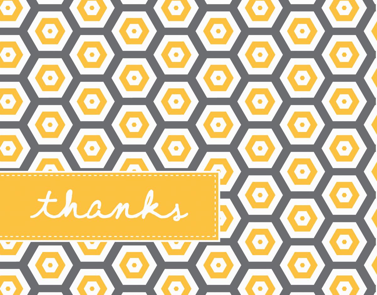 Honeycomb Pattern Thank You Card