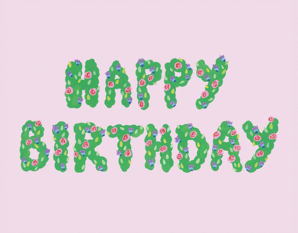Bush Flower Birthday