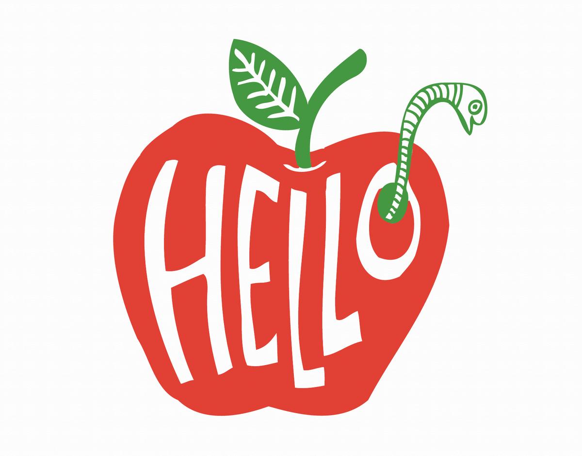 Apple Hello Card