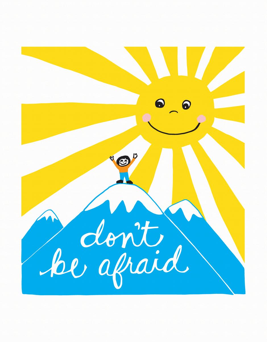 Don't Be Afraid Good Luck Card