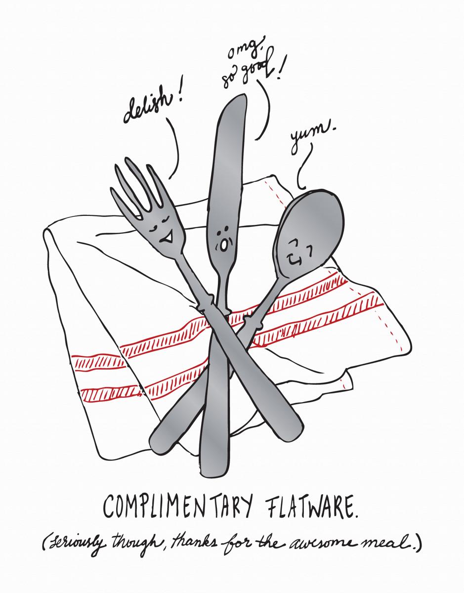 Complimentary Flatware