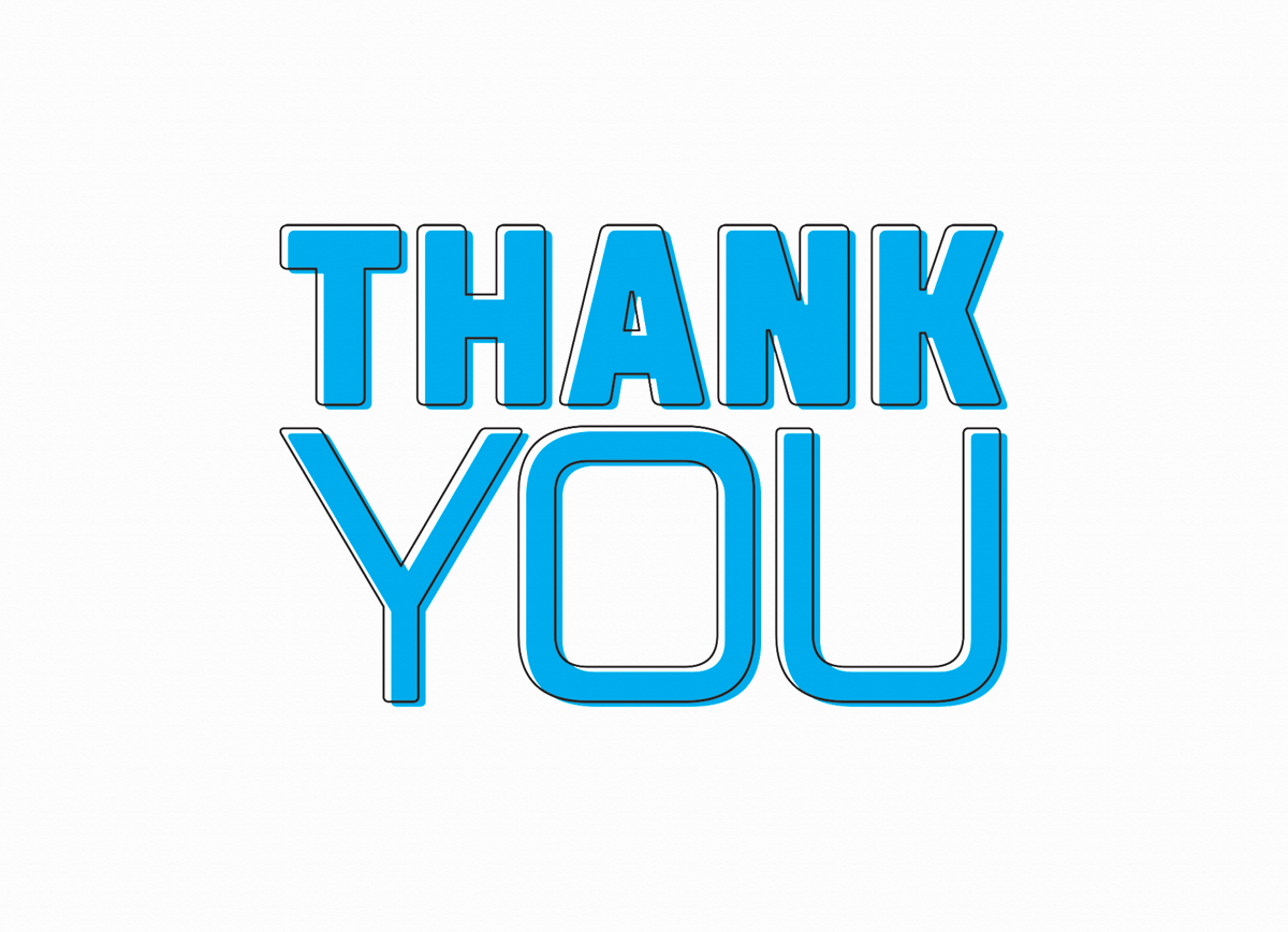 Blue Thank You