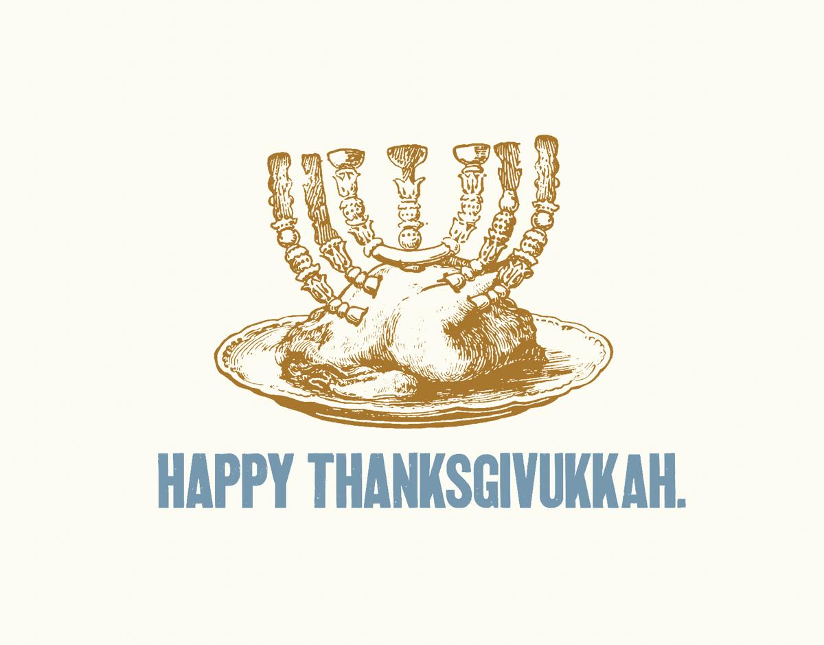 Happy Thanksgivukkah Holiday Card