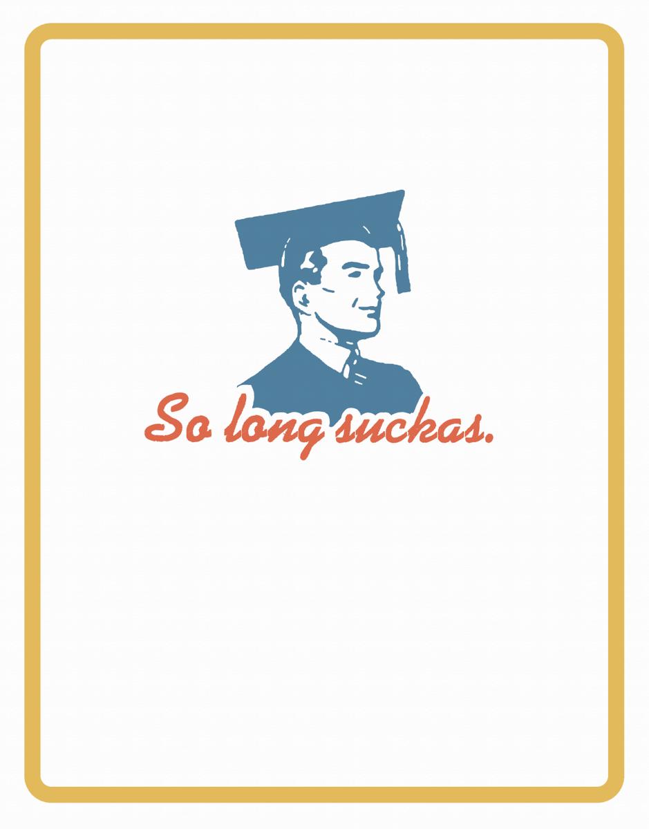 Funny Graduation Thank You Card