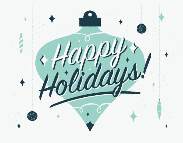 retro christmas ornament holiday greeting card