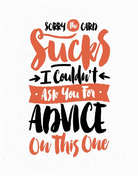Sorry The Card Sucks