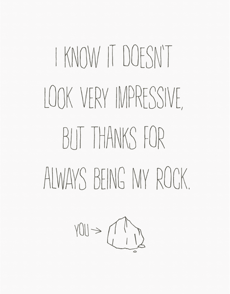 Thanks For Being My Rock