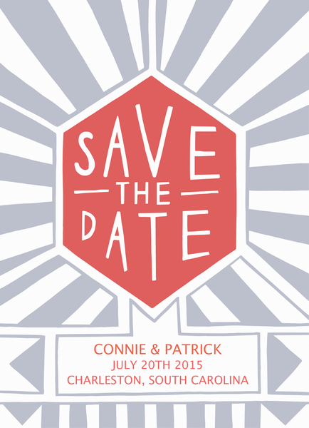 Hexagon Save the date